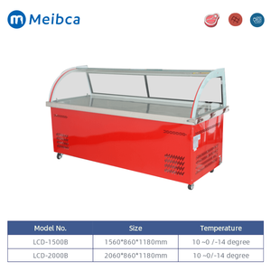 Refrigerated Meat Display Fridge Showcase With Storage Refrigerator