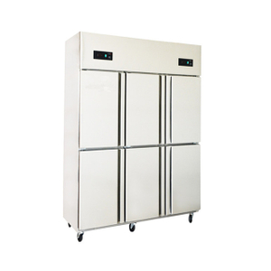 6 Doors Commercial Upright Display Fridge Glass Goor For Sale