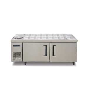 2 Doors Bar Under Counter Top Table Fridge