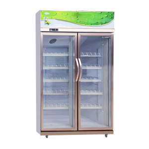 Multideck Tempered Glass Door Beverage Display Upright Showcase