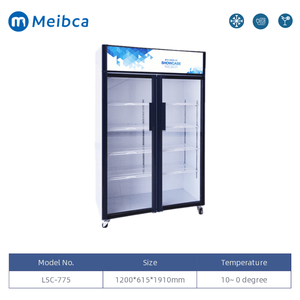 Commercial Glass Door Display Showcase Cooler For Sale