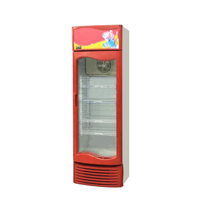 Red Color Factory Direct Sale Upright Showcase With CE Approval
