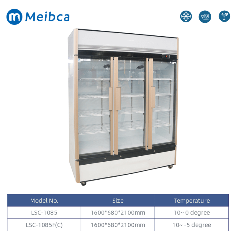 Front Glass Door Beverage Merchandiser Refrigerator