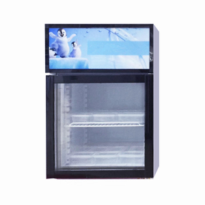 Small Glass Front Clear Door Mini Fridge