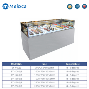 Bakery Cake Display Curved Glass Door Cabinet Chillers